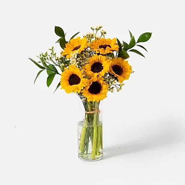 Blooming Sunflowers Vase Arrangement