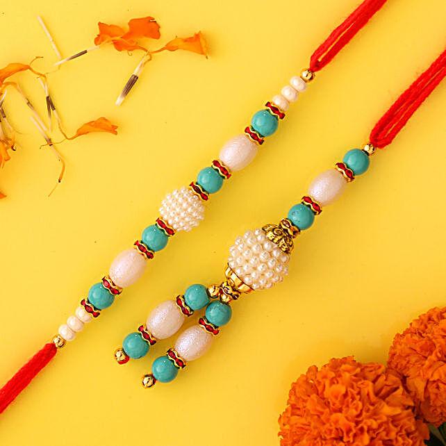 Blue Pearl And Lumba Rakhi:Bhaiya Bhabhi Rakhi to Saudi Arabia