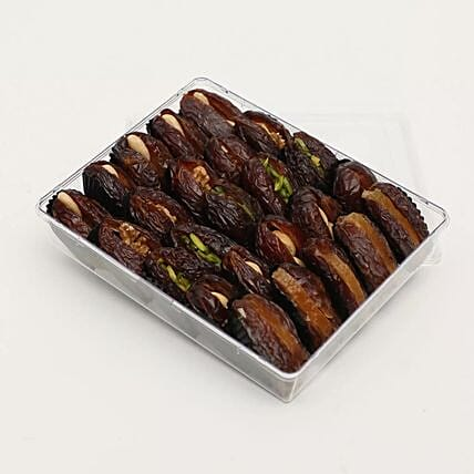 A Box Of Dates With Dry Nuts Filling 500g