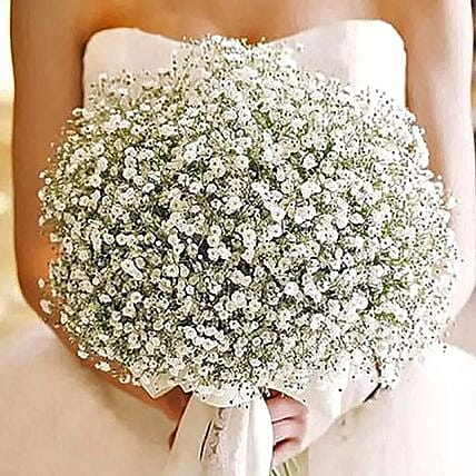 White Gypsophila Bridal Bouquet