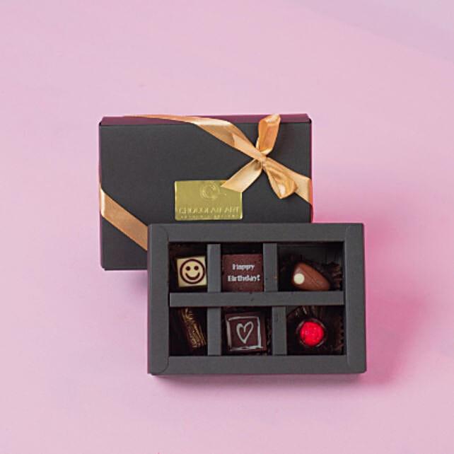 Artistic Happy Birthday Chocolate Box- 6 Pcs