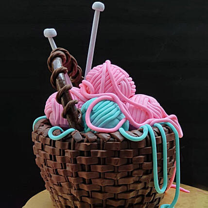 Basket Of Wool Cake