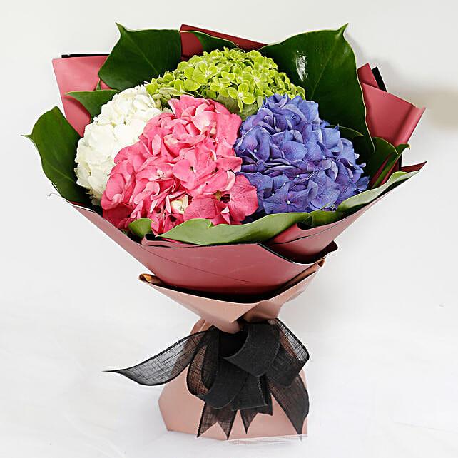 Beautiful 4 Colour Hydrangea Bouquet