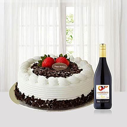 Blackforest Cake With Red Wine:Anniversary Cakes to Singapore
