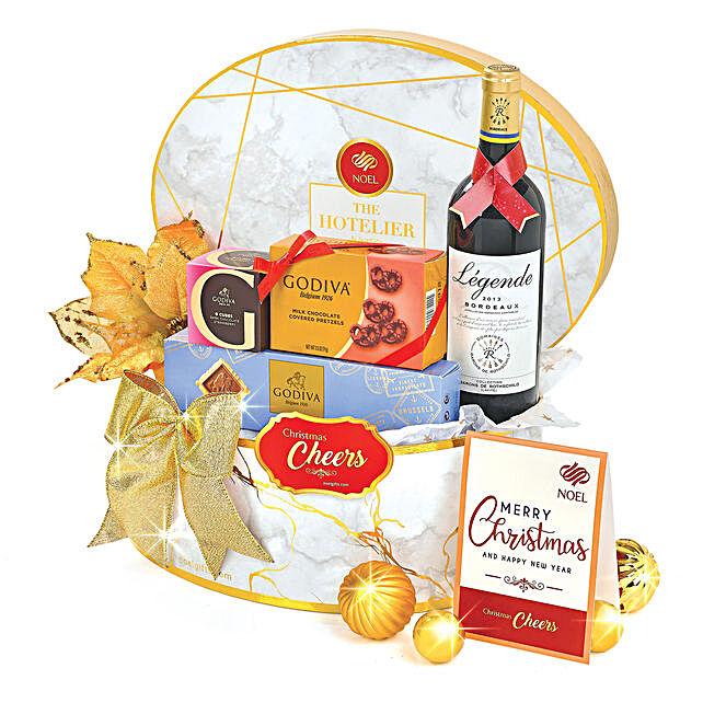 Bordeaux And Godiva Gift Hamper