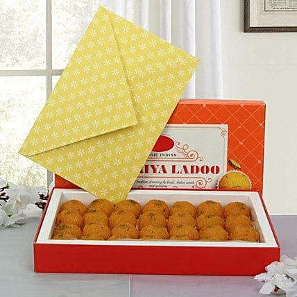 Box of Motichoor Laddoo