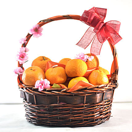Bright Oranges Basket For New Year