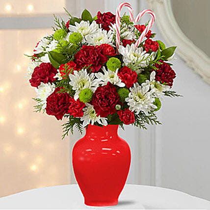 Carnations for Christmas:Send Mixed Flowers to Singapore