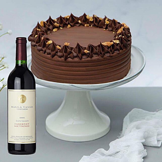 Creamy Walnut Cake & Cabernet Sauvignon