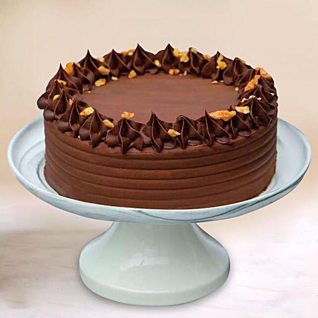 Crunchy Walnut Chocolate Cake:Anniversary Gifts to Singapore