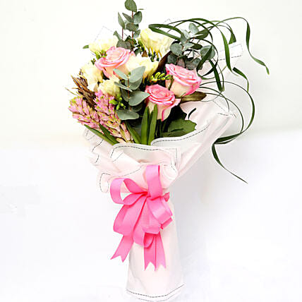 Endearing Roses and Freesia Bouquet