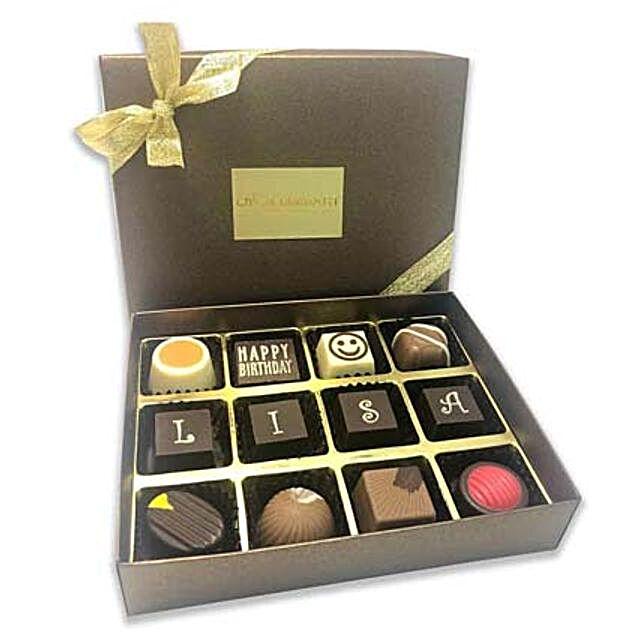 Extravagant Happy Birthday Chocolate Box- 12 Pcs