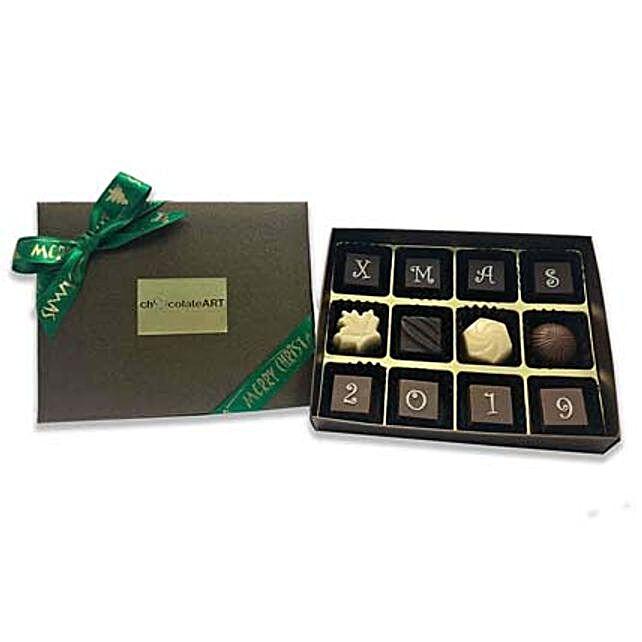 Fantasy Christmas Chocolate Box- 12 PCs:Christmas Gift Delivery Singapore
