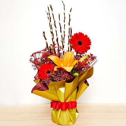 Flower Arrangement:Send Chinese New Year Gifts to Singapore
