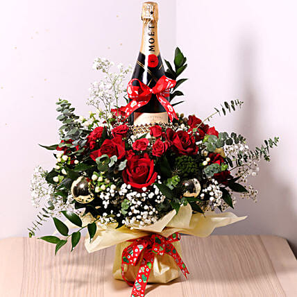 Flower Wrapped Champagne