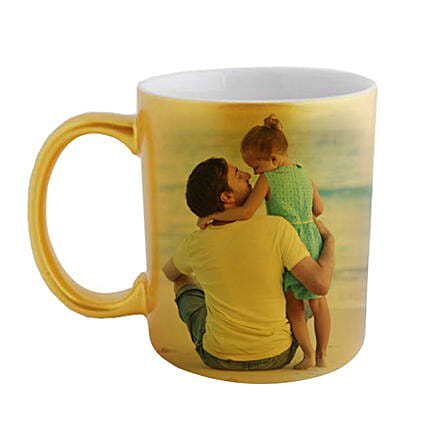 Golden Personalized Father Daughter Mug:Father's Day Presents in Sinapore