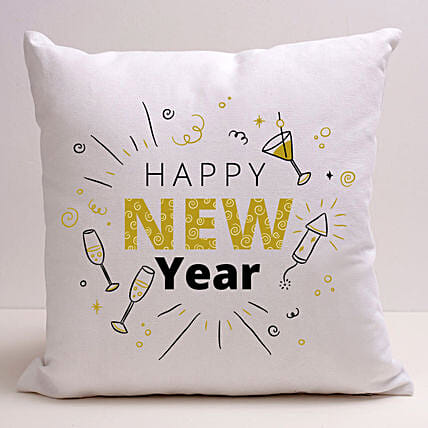Happening New Year Greetings Cushion