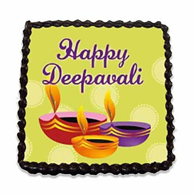 Happy Diwali Chocolate Fudge Brownie