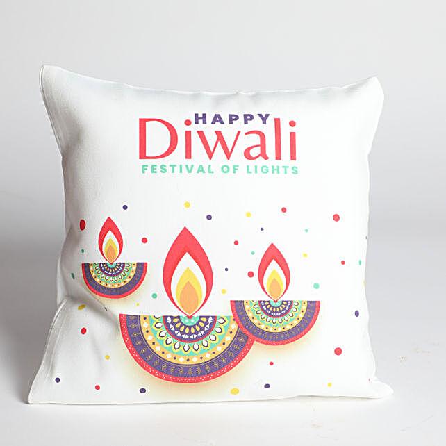 Happy Diwali Designer Diya Cushion