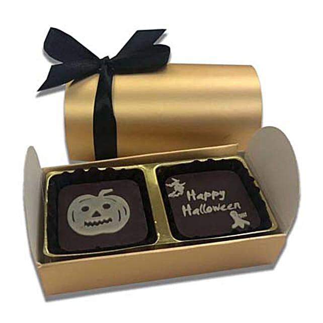 Happy Halloween Dark Chocolate Box- 4 Pcs