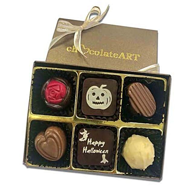 Happy Halloween Designer Chocolate Box- 6 Pcs