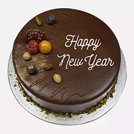 Happy New Year Chocolate Cake:New Year Gifts to Singapore
