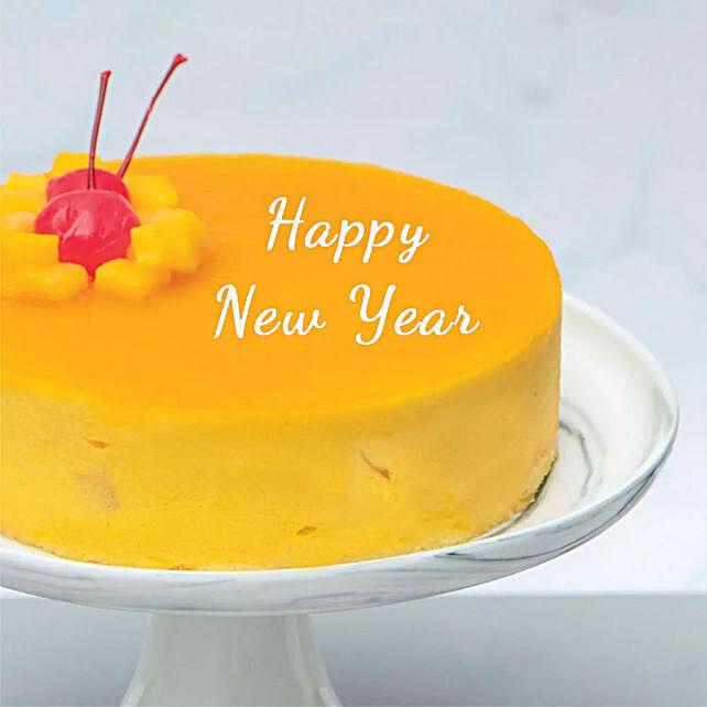 Happy New Year Tangy Mango Mousse Cake