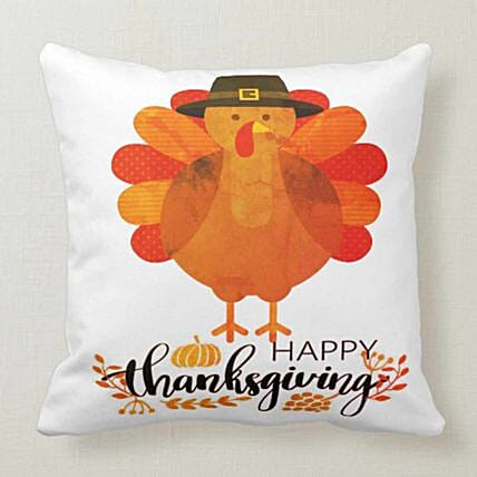 Happy Thanksgiving White Cushion:New Arrival Gifts Singapore