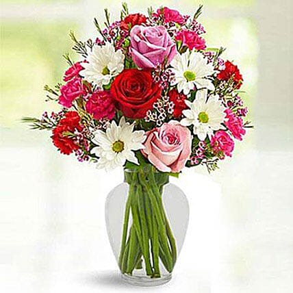 Love Birds Bouquet:Carnations