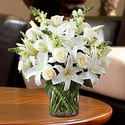 Love For White Flowers Vase
