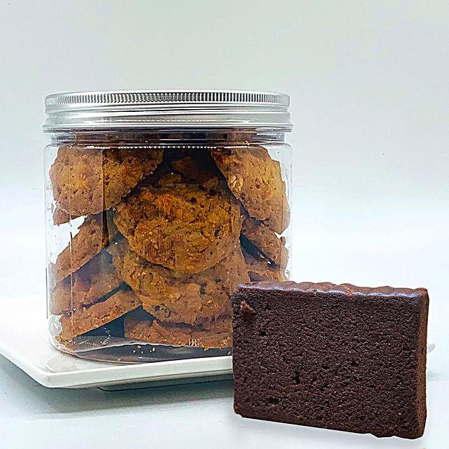 Macadamia Cookies - Dark Chocolate Teacake Combo:Gifts for Wife to Singapore
