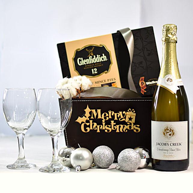 Merry Christmas Charming Black Gift Box