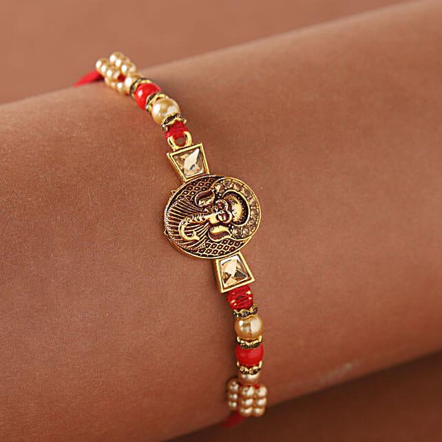 Mini Golden Ganesha Rakhi