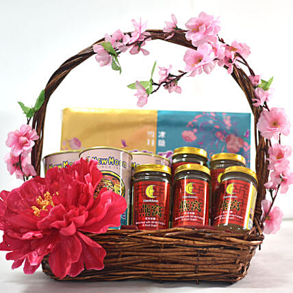 New Year Wishes Gift Basket:Chinese New Year Gift Delivery in Singapore