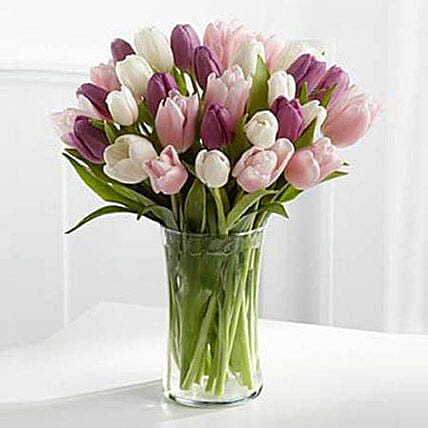 Painted Skies Tulip Bouquet:Mothers Day Gifts to Singapore