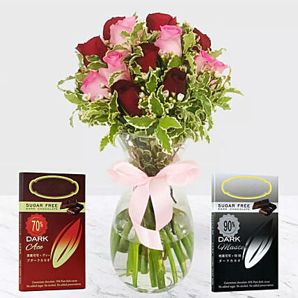 Roses And Healthy Chocolates