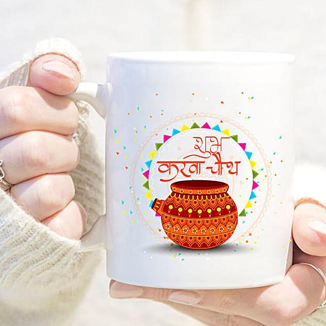 Shubh Karvachauth White Mug