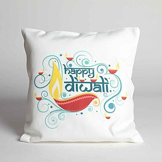 Special Happy Diwali Diya Cushion