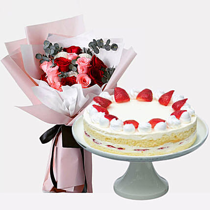 Strawberry Shortcake & Delightful Roses