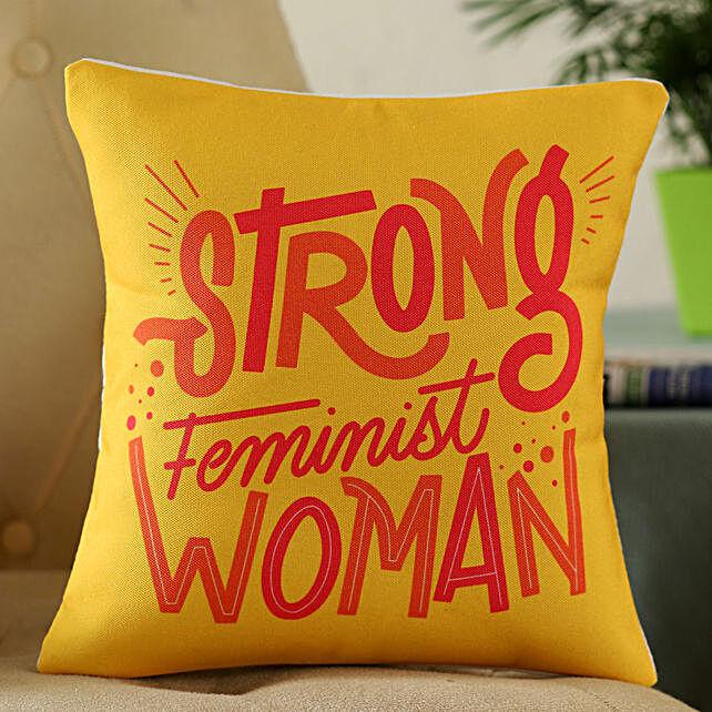 Strong Feminist Woman Cushion:Send Cushion to Singapore