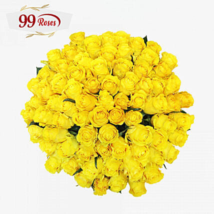 Sweet Yellow Roses Bouquet