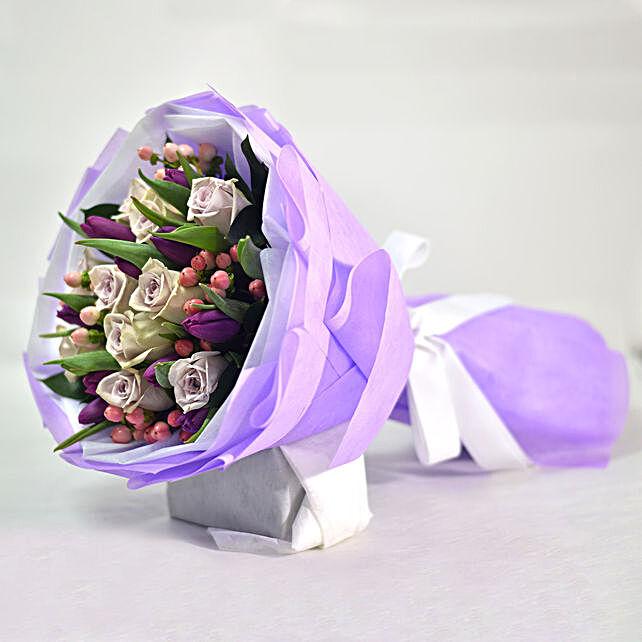 Tulips & Roses Elegant Bouquet