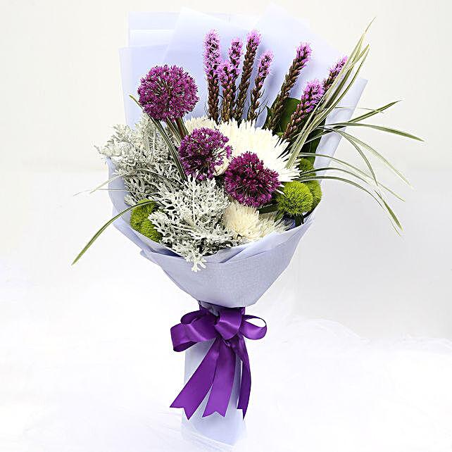 Enchanting Delistar and Liatris Mixed Bouquet