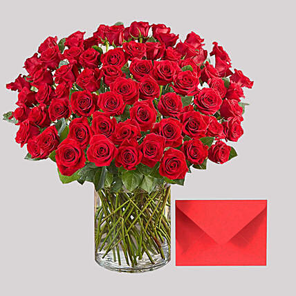 Romantic Roses and Greeting Card