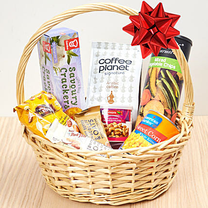 Coffee And Snacks Basket