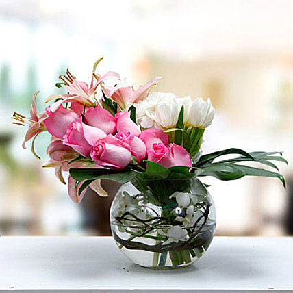Flower Flower Arrangement Tulips Asiatic Lily Roses Orchids Flowers