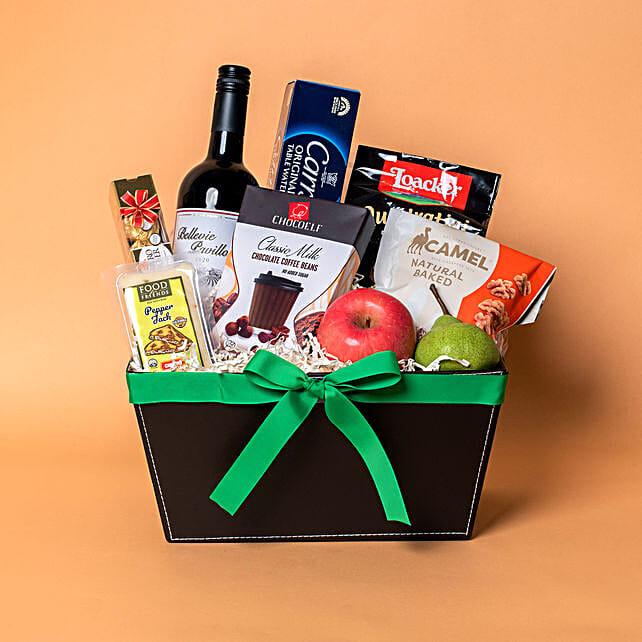 Red Wine N Cookies Gift Hamper:Gift Basket to Singapore