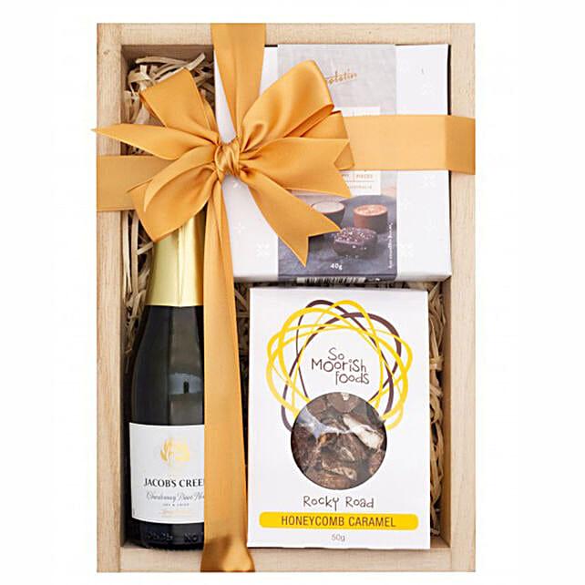Sparkling Chardonnay Gift Hamper:Gift Basket to Singapore