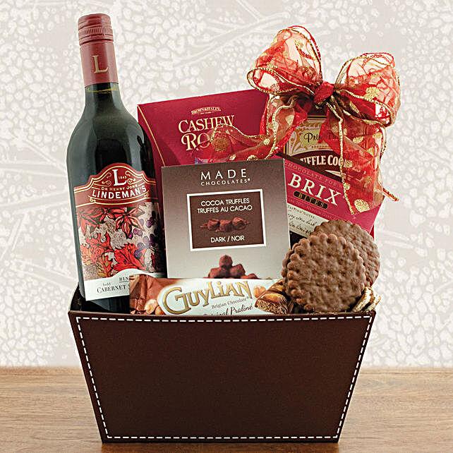 Wine N Cookies Gift Hamper:Gift Baskets to Singapore