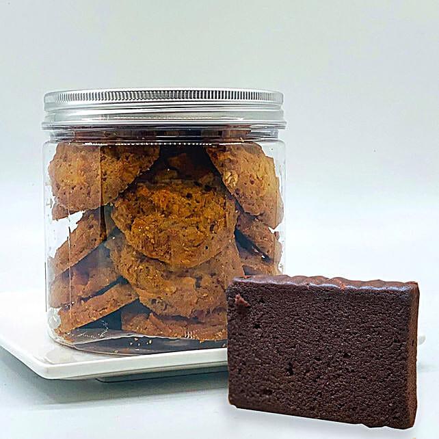 Macadamia Cookies - Dark Chocolate Teacake Combo